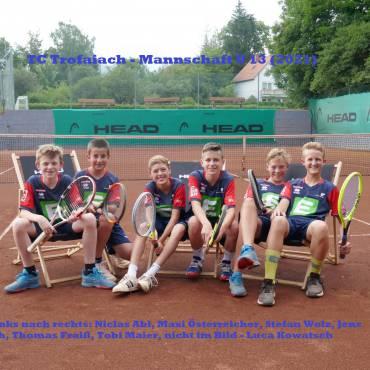 TC Trofaiach Mannschaft U13 mit neuen Errea Dressen